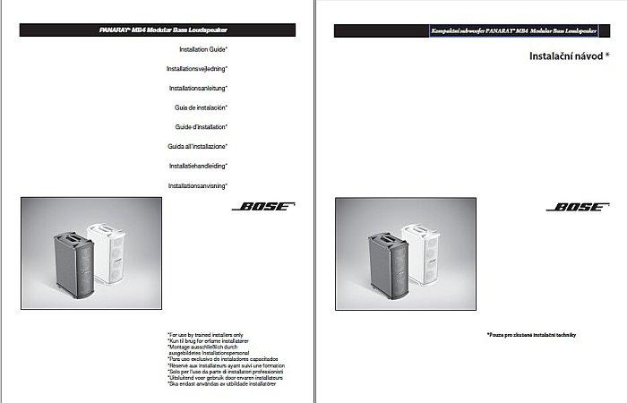 Instalační PDF návod pro techniky